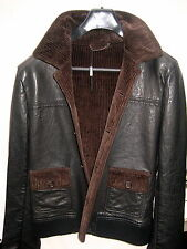 NWTs Men's Dolce & Gabbana D&G lamb leather jacket, a full corduroy lining Italy