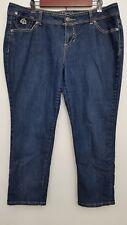 Dereon Womens Jeans 16W Dark Wash Stretch Cotton Blend Denim