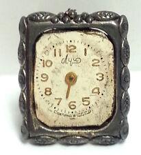 Steampunk Vintage White Clock Ring - Vintage Ring,Adjustable Ring,Brass Ring