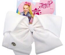 New JoJo Siwa Nickelodeon Signature large white Hair Bow JoJo Ribbon Bow