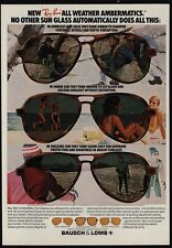 1978 RAY-BAN Ambermatic Sunglasses - BAUSCH & LOMB - VINTAGE ADVERTISEMENT