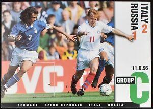 Italy V Russia, Euro 96, 1996 Football Maximum Card Unused #C49493