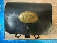 Vintage Lund Civil War Reproduction Cs Cartridge Leather Pouch Yt37