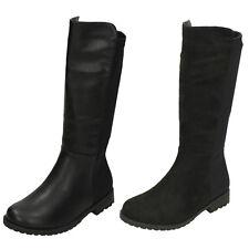 Girls Black Spot On Knee High Fashion Long Boots : H5083