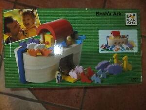 6107 - Plan Toys - Noah's Arche - Viele Tiere - Holz - Neu & OVP