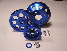 Underdrive Pulley Kit Set fits Nissan 240SX 95 96 97 98 SR20DET S14 S15 Blue