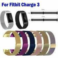 Für Fitbit Charge3 Edelstahl Milanese Magnet Ersatz Armband Band Strap