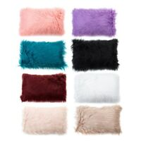Soft Fur Plush Throw Pillow Cases Home Decor Sofa Waist Fluffy Cushion Cover New