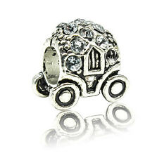 hot European Silver CZ Charm Beads Fit sterling 925 Necklace Bracelet Chain xc26