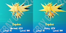 ZAPDOS NORMAL / ⚡SHINY⚡ PERFECT 6IV - POKEMON LETS GO PIKACHU AND EEVEE