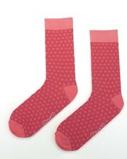 Mens Cotton Business Socks Crew Work Dress Wedding Socks Size40-46 Pink Purple