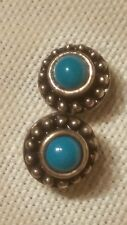 Southwestern Vintage Turquoise and Sterling SIlver Post Earrings