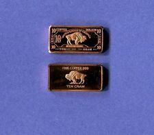 Standing Buffalo .999 Copper  Bar Ten Grams Second Design