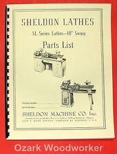 "SHELDON XL Series 10"" Metal Lathe Parts Manual 0650"