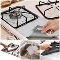 4pcs Gas Range Protector Hob Liner Stove Top Protectors Reusable Kitchen Tools