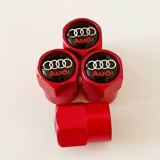AUDI metal Wheel Valve Dust caps all models Red 5 colors Xmas stocking S LINE RS