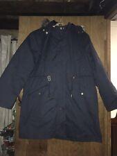 Joules Wyndfall 3 In 1 Coat, Size 20, Navy & Burgundy, Waterproof, Down Filled
