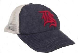 ralph lauren polo denim & supply mens logo mesh baseball cap denim red hat new