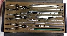 Vintage Friedmann German 15 pc Pracision Drafting Mechanical Drawing Compass Set