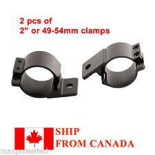 2pcs 2'' 49-54mm LED BAR MOUNT BRACKET LIGHT CLAMP FOR ROOF ROLL CAGE BAR TUBE