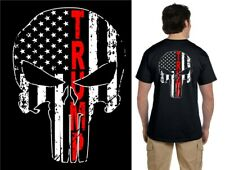 Donald Trump President T-shirt 2020 Election Punisher/US Flag MAGA L Large