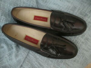 COLE HAAN MENS LEATHE TASSEL LOAFERS/ SHOES, SIZE 9.5 WIDE