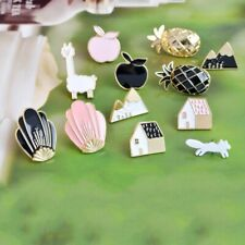 Pin Set For Women Party Gift Pineapple Apple Alpaca Fox Flowers Houses Metal