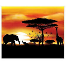 AFRICAN SAFARI Scene Setter party wall backdrop Africa jungle animals elephant +