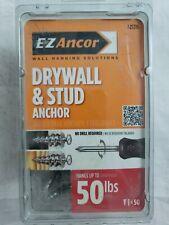 E-Z Ancor 50-Pack Standard Drywall Anchor Wall Self-Drilling Zinc Screw Gray