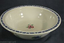"Pfaltzgraff Summer Garden Serving Bowl Large 11"" Salad Pasta Stoneware"