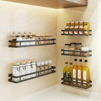 Kitchen Seasoning Rack Spice Shelf Wall Mounted Storage Stainless Steel Holder