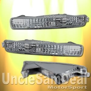 FOR 96-97 HONDA ACCORD FRONT BUMPER CORNER SIGNAL LIGHTS CHROME DIRECT FIT PAIR