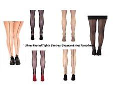 Sheer Tights Plus Size Cuban Heel & Jive Backseam Pantyhose-4 color XL-XXL sl