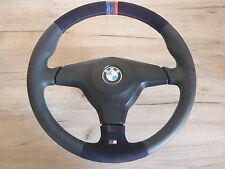 M STEERING WHEEL BMW E31 E34 E36 WITH AIRBAG NEW Leather Cover Alcantara
