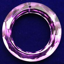 1Pcs Faceted Purple Titanium Crystal Donut Pendant Bead 50x8mm C192