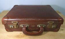 Small Vintage Faux Leather Python Suitcase 1950s