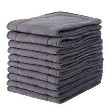 Couche Reusable Doublures lavables pour poche 10Pcs Inserts de bambou pour bébé tissu