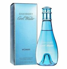 Cool Water By Davidoff Women 3.4 oz 100 ml *Eau Deodorant* Spray New in Box