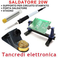 SALDATORE A STILO 20W STAGNO PORTA SALDATORE SUPPORTO PCB SALDATURE PRECISIONE