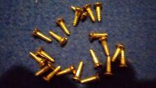 "20 of 6x1/2"" Brass Slotted Raissed Head Wood Screws"