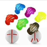 1x Golf Ball Line Marker Template Alignment Liner Marks Putting Tool Aids S X4H9