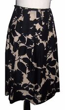 Nice Skirt by per se/ Black and Beige/ SZ 12/ Silk & Wool/ Lined