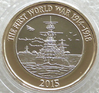 UNCIRCULATED 2015 First World War Navy Belfast £2 Two Pound Coin Fifth Portrait