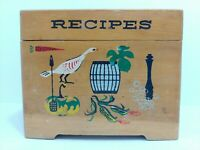 Vintage Ucagco Japan Wooden Painted Recipe Box