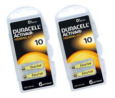 30 X Batería Duracell 10 audífono Activair 1.45v Zinc Aire Libre De Mercurio