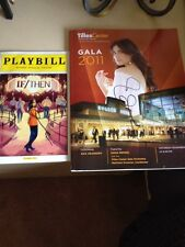 Idina Menzel signed autographed If/then playbill And Tilles Center Concert Book