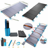 Outdoor Portable Folding Camping Cot Ultralight Aluminium Alloy Hiking Sleep Bed