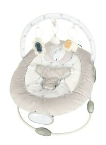 LADIDA Beige Star Soft Reclining Baby Bouncer with Activity bar, Mirror, Toy, 54