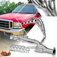 For 99-04 F250/F350 SD 6.8 V10 Stainless Steel Long Tube Exhaust Header+Y-Pipe