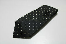 cravatta tie krawatte KENZO PARIS pois nero black 100% seta silk soie (L75)